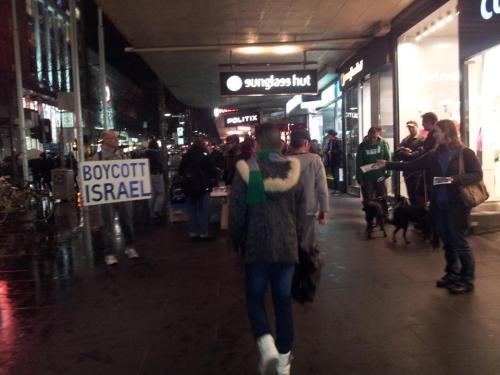 boycott israel leafleting